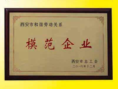 模范企业证书